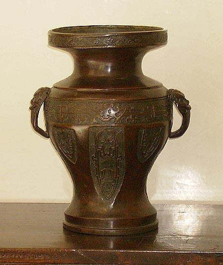 Heavy Bronze Vase Ming Dynasty Xvi Xvii Th C